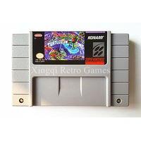Super Nintendo SFC SNES Game Teenage Mutant Hero Turtles IV Turtles In Time Video Game Cartridge