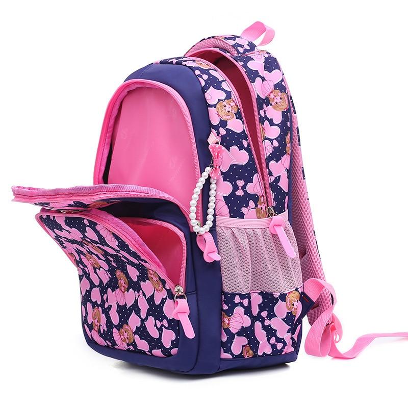 Kids Schoolbags for Girls Print Primary Escolar Backpack Children Princess Bookbags Orthopedic Waterproof Satchel Mochila Sac in School Bags from Luggage Bags
