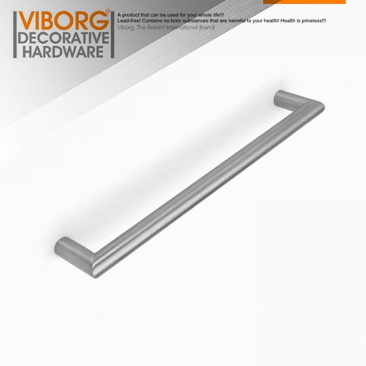 VIBORG Deluxe 192mm Solid 304 Stainless Steel Modern Kitchen Cabinet Cupboard Door Handle Pulls Drawer Pull Handle, SV726 1 pair 4 inch stainless steel door hinges wood doors cabinet drawer box interior hinge furniture hardware accessories m25