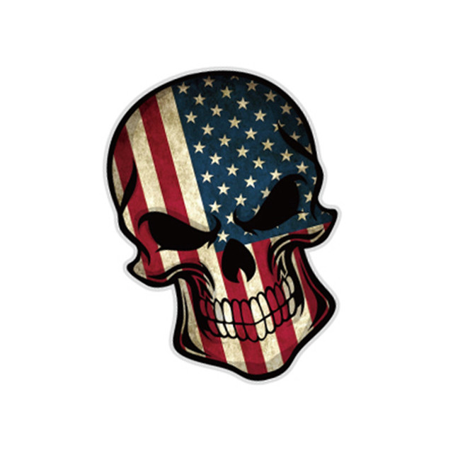 Etie Oem 5 Pcs Flag Skull Vw 3m Vinyl Wrap Car Window Stickers Germany Italy Uk
