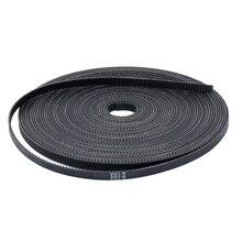 1 шт. черный GT2 6 мм ширина 2GT PU Трансмиссия зубчатый ремень со стальным металлическим сердечником для 3d принтера длина = 1 м/2 м/3 м/4 м/5 м метр