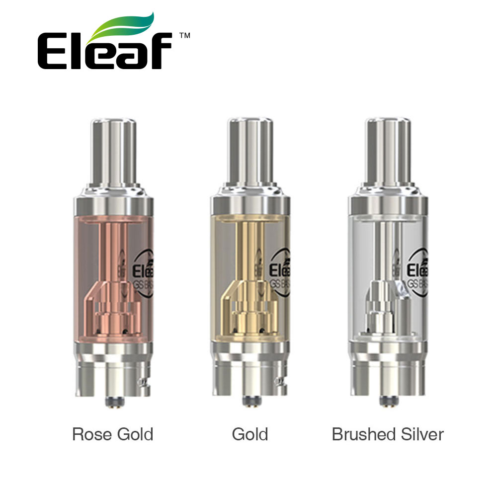 Originale Eleaf GS BASALE Atomizzatore 1.8 ml Capacità Serbatoio 15mm Diametro con 0.75ohm/1.5ohm GS Serie Air Coil Heads per BASALE MOD