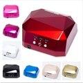 LED de la lámpara uv 36 w 110-220 V máquina de uñas de gel uñas secas Diamante en forma de Mejor Secador de Uñas para Uñas de Gel UV de Curado de LA UE, EE.UU. Plug