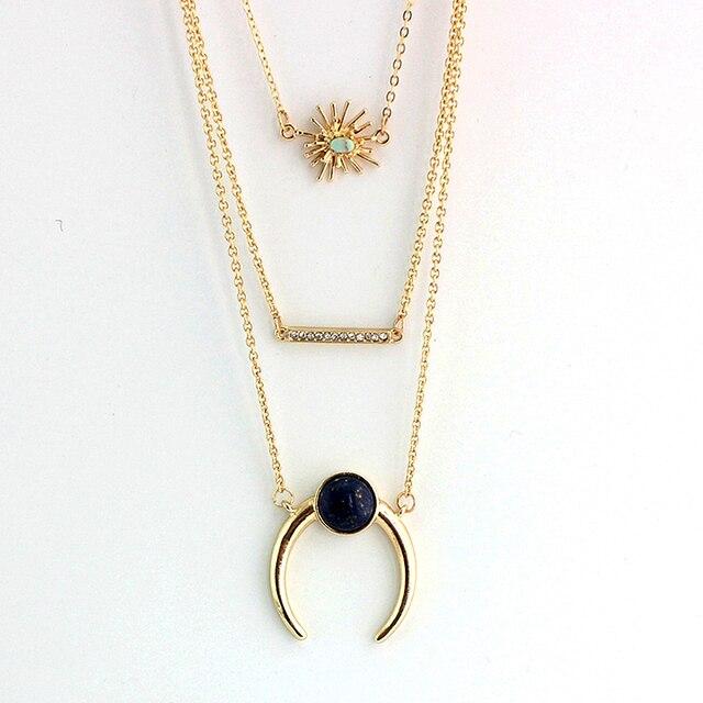 Chicvie цветок заявление ожерелья и кулоны кулон многослойное