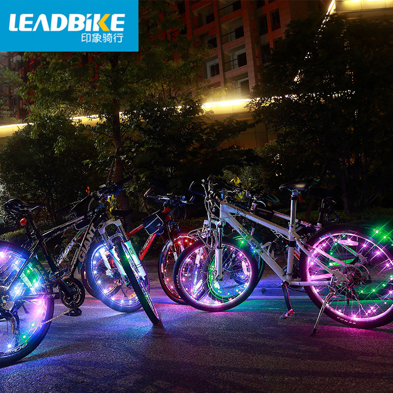 New Leadbike Bicycle Willow Blade Silicone Spoke Lights LED Crescent Hot Wheels