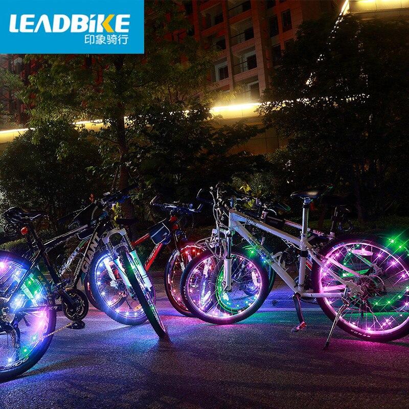 Leadbike Bicycle Lights 20 LED Colorful Bike Wheel Light 3 AAA Battery Waterproof MTB Road Bicycle Signal Tire Wheel Spoke Light