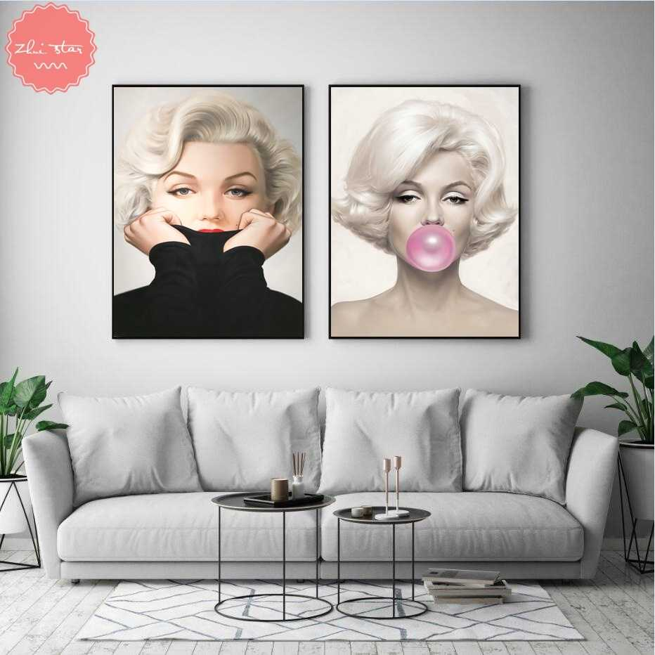 diamond painting Marilyn Monroe Blows Bubbles Giclee diamond embroidery sale cross-stitch christmas decorations for home