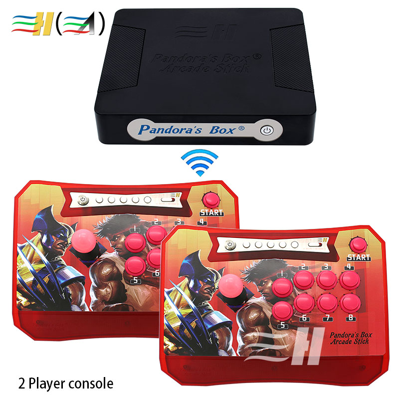 Controller Pandora Box 4S+ Wireless Arcade Stick 815 in 1 Support XBOX360 PS3 PC Game Arcade Joystick Fight Game Controller kit hdmi vga pandora box 4s arcade game board 815 in 1 with 28 pin harness for arcade mechine diy arcade kit