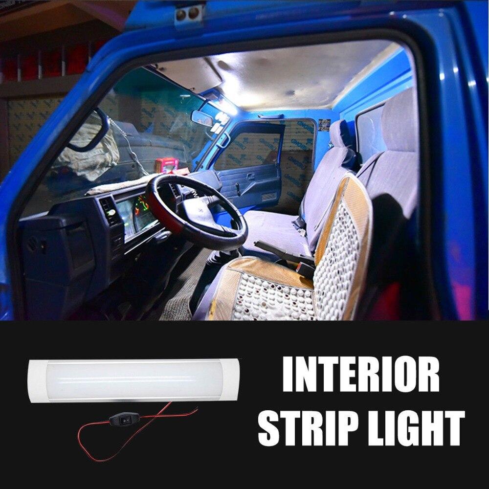 Led Wnętrza Biały Pasek światła Bar Wodoodporny Do Przyczepy Kempingowej Samochód Kempingowy 12 V24 V 10 W