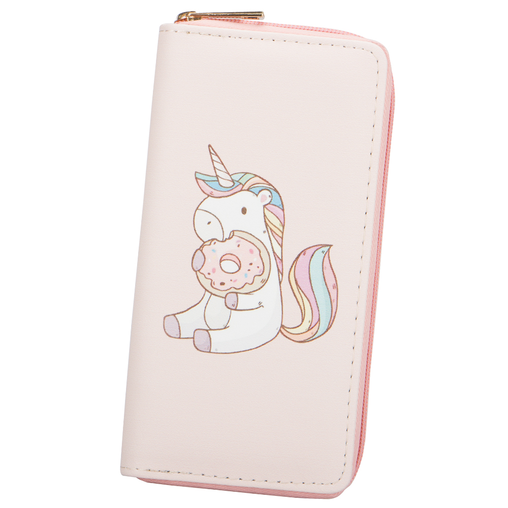 Sansarya New 2018 Cute Cartoon Unicorn Print PU Long Women Wallet Clutch Phone Bag Ladies Card Holder Female Purse with Zipper ...