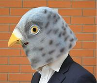 Neue Ankunft Künstliche Halloween Latex Taube Maske Maskerade Parteien Cosplay Gadget Grau Durable Attraktive Maske