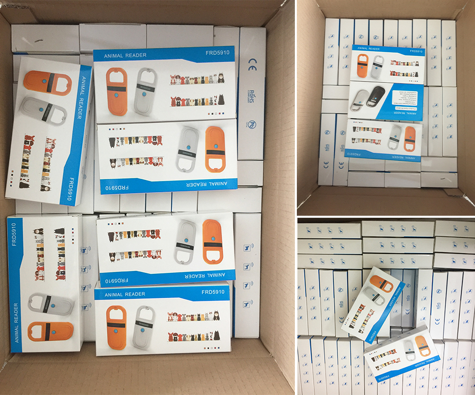 NEW RFID Handheld pet chip scanner FDX-B EMID mini Light portable USB animal dog cat microchip Reader for vet pigeon ring race