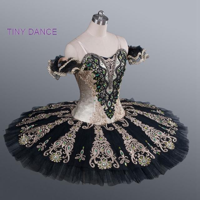 New black professional ballet tutu meninas swan lake ballet traje de dança tutu dress stage show adulto ballet dança tutus bl-1182