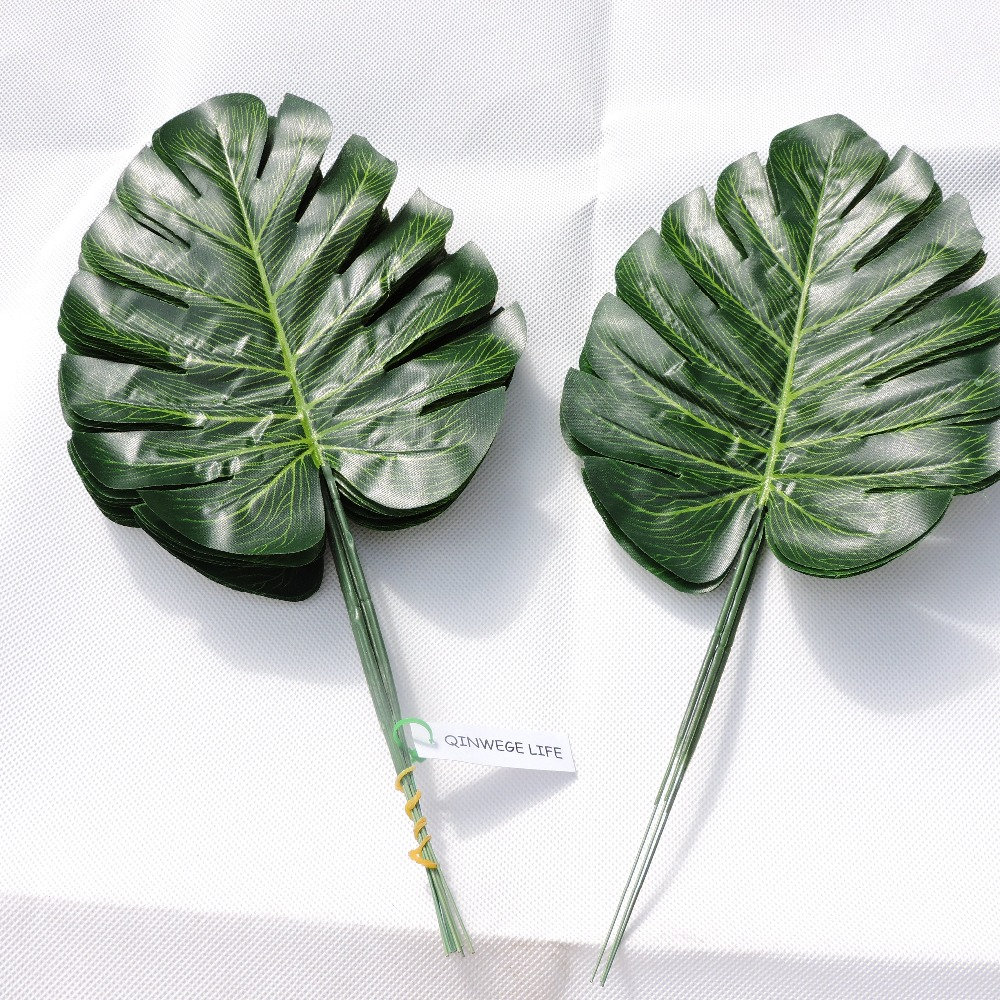 Artificial monstera turtle leaf wall plant tree branch wedding home office furniture garden decor green p028