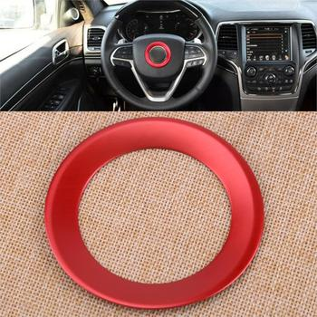 CITALL Red Interior Steering Wheel Car Center Decoration Cover Trim Fit for Jeep Grand Cherokee 2014 2015 2016 2017 2018 image