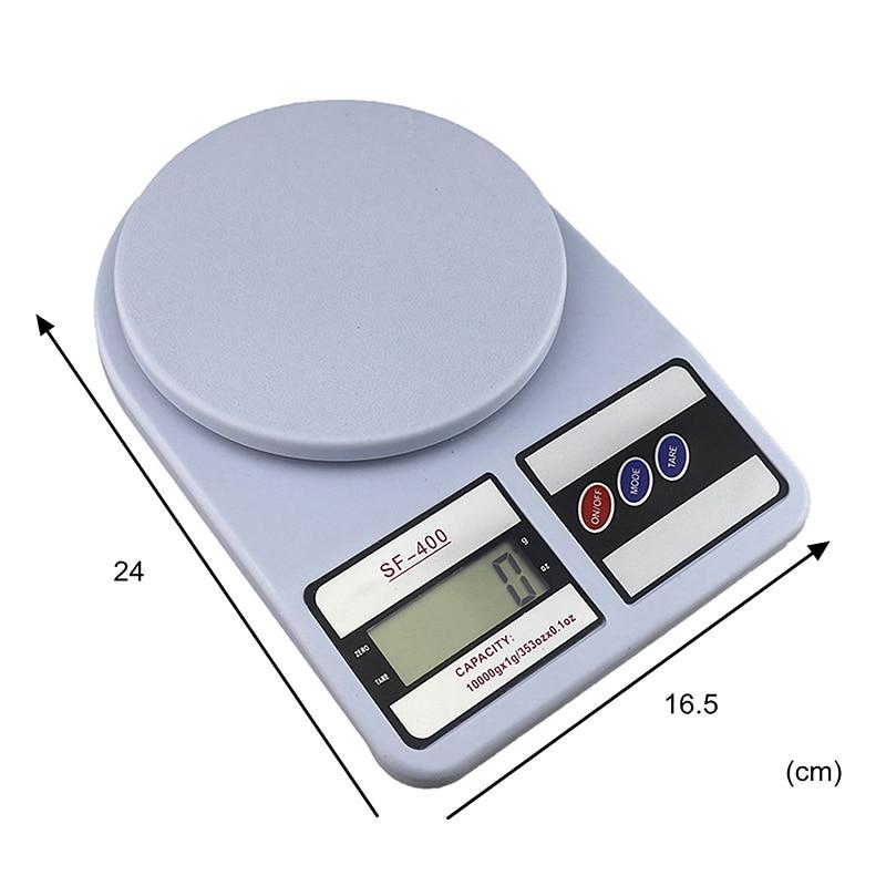 Портативные цифровые весы 10 кг 1 г, электронные весы с ЖК-дисплеем, кухонные весы, почтовые пищевые весы, измерительные весы, весы-0