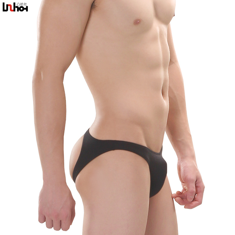 Sexy Gay Underwear Men Briefs Short Hollow Back Cotton Underpants Slim U Convex Pouch Low Waist Panties Cueca Calzoncillos M-XL