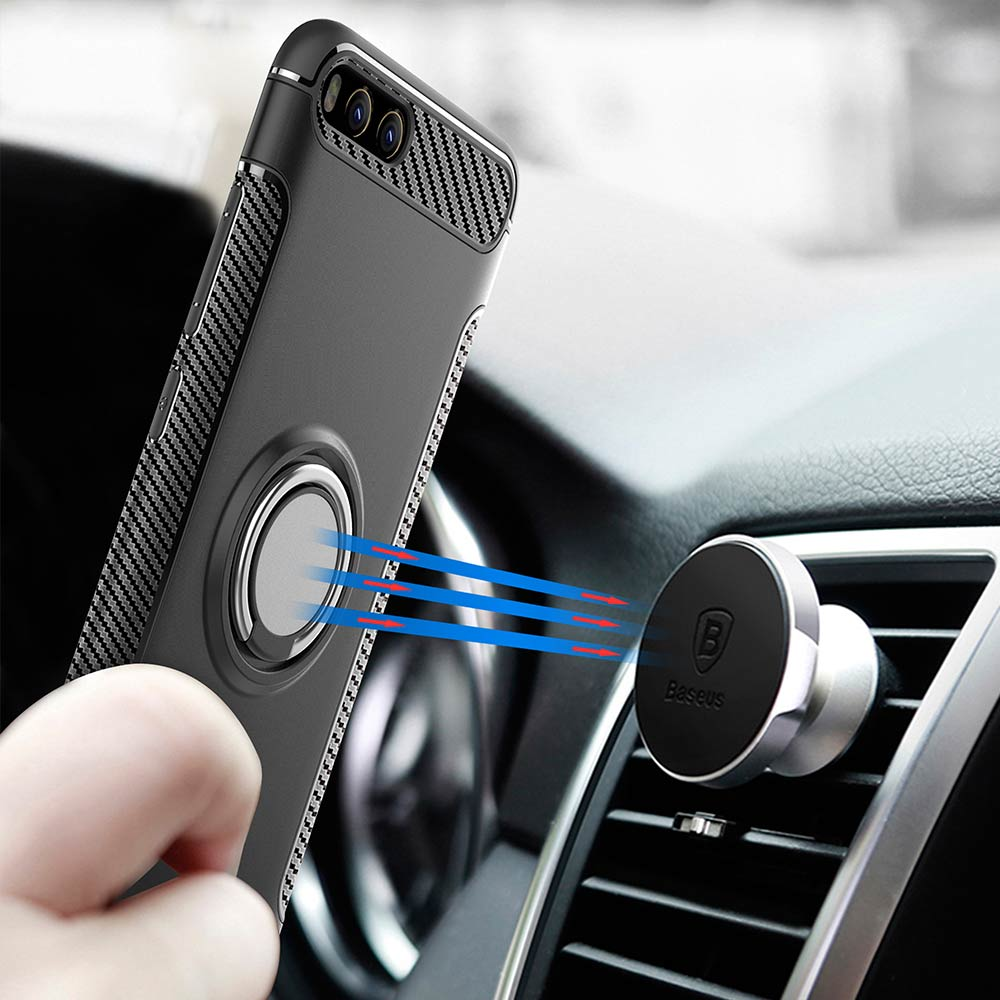YO-YO DEER Caso Ibrido per Xiao mi mi 6 magnetico supporto Del Telefono Dell'automobile Anello Di Barretta antiurto Tpu + COPERTURA del Pc per Xiao mi mi 6 del telefono Custodie