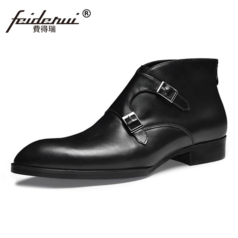 2018 New Arrival Monk Straps Man Handmade  Riding Shoes Genuine Leather Vintage Pointed Toe Cowboy Mens Ankle Boots SS332018 New Arrival Monk Straps Man Handmade  Riding Shoes Genuine Leather Vintage Pointed Toe Cowboy Mens Ankle Boots SS33