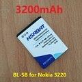 3200 мАч BL-5B Аккумулятор для Nokia 3230 5070 5140 5140i 5200 5300 5500 6020 6021 6060 6070 6080 6120 6120C 7260 7360 7620 N80 N90