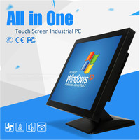 Customized Front Panel IP65 1000 Nits 12 Inch Industrial Computer 2 Lan Port With Intel J1800
