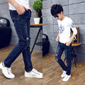 Tommy Carino New Embroidery Kids Boys Korean Fashion Denim Long Pants For Children Clothing Jeans Child Boys Girls 5-14years