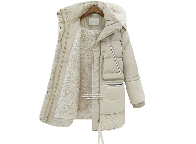 Envío libre mujeres de invierno chaquetas y abrigos de las mujeres Calientes de la Alta Calidad Femenina engrosamiento Warm Parka Capucha Abrigo