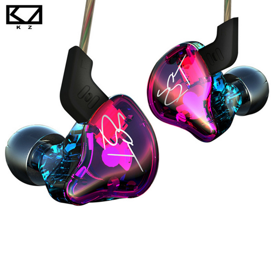 KZ ZST Earphone Balanced Armature With Dynamic Earphone hybrid Driver Noise Cancelling Headset With Mic Earplug dynamic signature recognition using hybrid wavelets