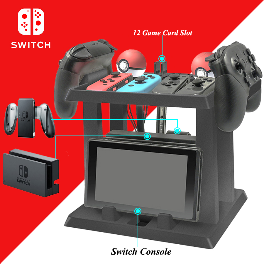 Nintend Switch Accessories Game Disc & Controller & TV Dock Storage Bracket Holder Tower For Nintendo Switch Game Carrying