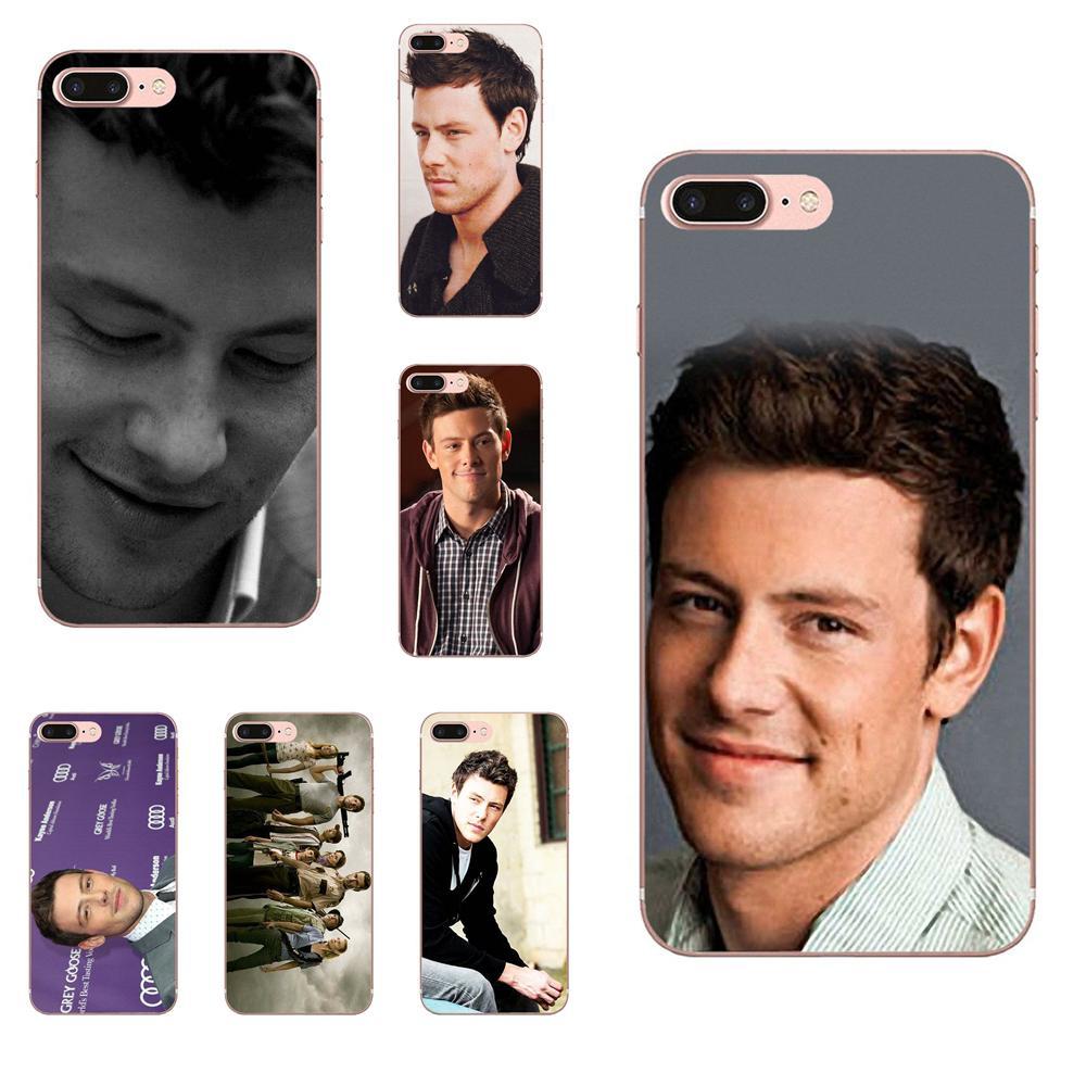 Glee acteur Cory Monteith belle coque de t l phone pour Apple iPhone 4 4 S