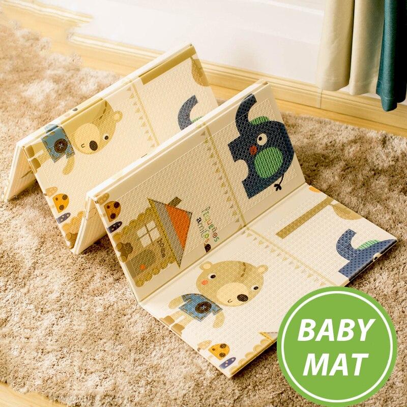 Tapis de jeu brillant pour bébé 180*200 cm Portable pliant bébé tapis d'escalade tapis en mousse XPE environnement salon jeu couverture - 3