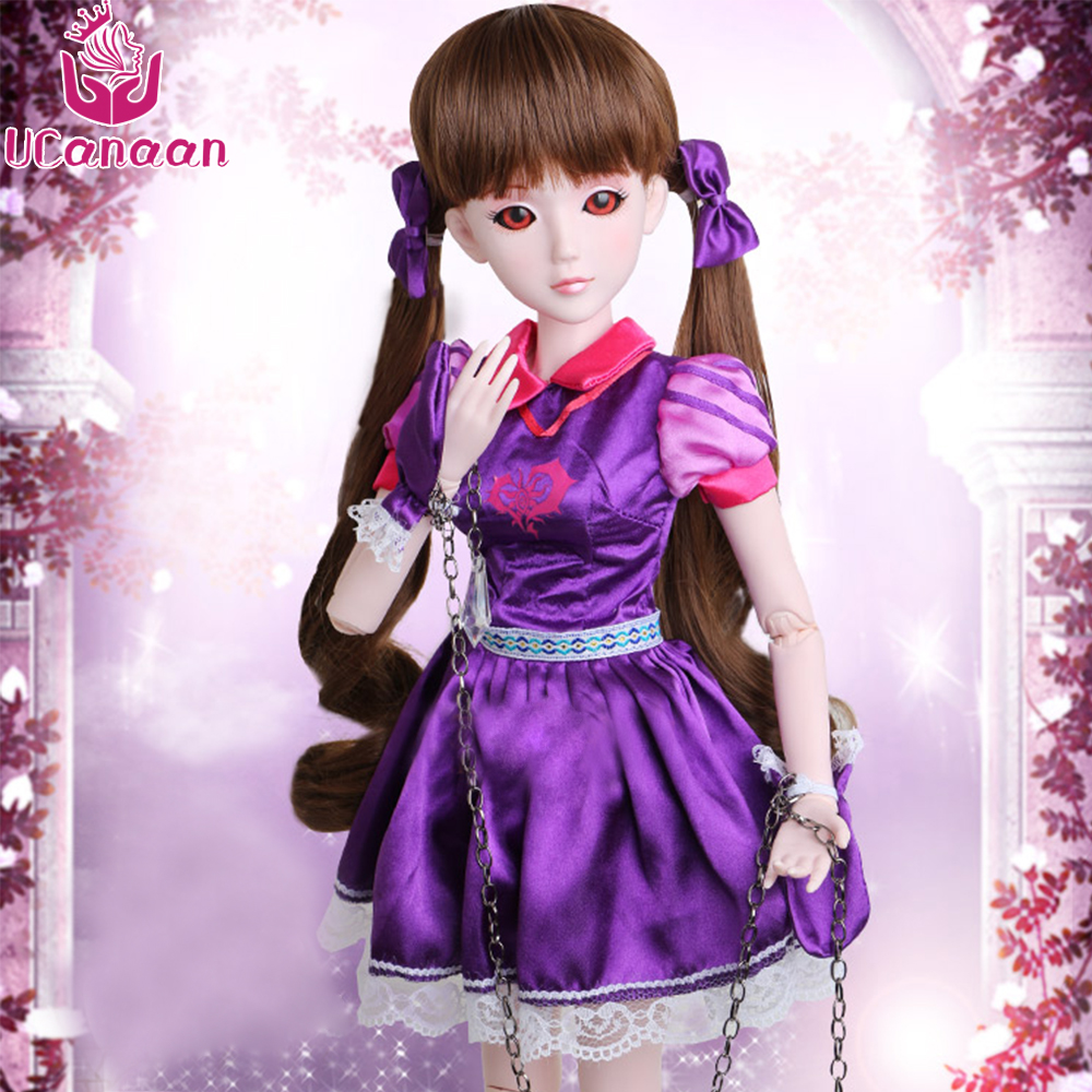 Ucanaan 1/3 Large BJD/SD Doll Body Joints Moveable Toys Model Make Up  Purple Vinci Lolita Offer Chain Girl Favorite Gift uncle 1 3 1 4 1 6 doll accessories for bjd sd bjd eyelashes for doll 1 pair tx 03