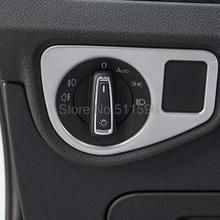 For VW Volkswagen Touran 2016 2017 Inerior Accessories Light Switch Button Trim Inner ABS Matte Chrome Car Styling 1PCS