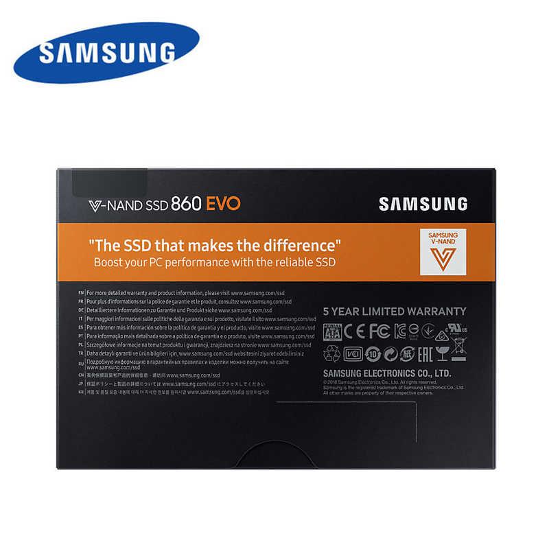 SAMSUNG HDD 2,5 Zoll 860 EVO SSD 120gb 250gb 500gb 1TB Interne Solid State Disk SATA3 NAND Festplatte MLC Desktop PC Laptop