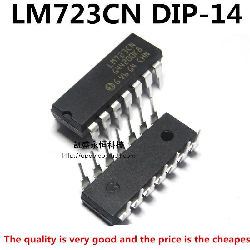 DIP-14 Voltage Regulator 2-37V LM723CN LM723 New Ic ec 5Pcs Adj