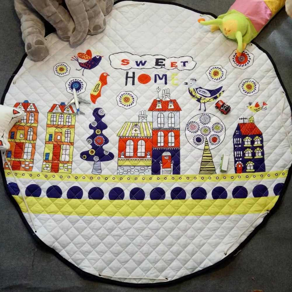 Кофейный медведь мальчик игровой коврик Antiskip ковер девушка коврик для комнаты 150*150 круглый пляжный коврик для хранения Открытый ползающий коврик игровой коврик для детей мультфильм