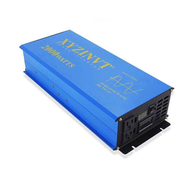 2000 W Onde sinusoïdale Pure Onduleur Solaire 24 V 230 V Puissance De la Voiture Inverseur de Batterie Réfrigérateur/TV Convertisseur 12 V 48 V 96 V DC à 120 V 220 V 240 V AC