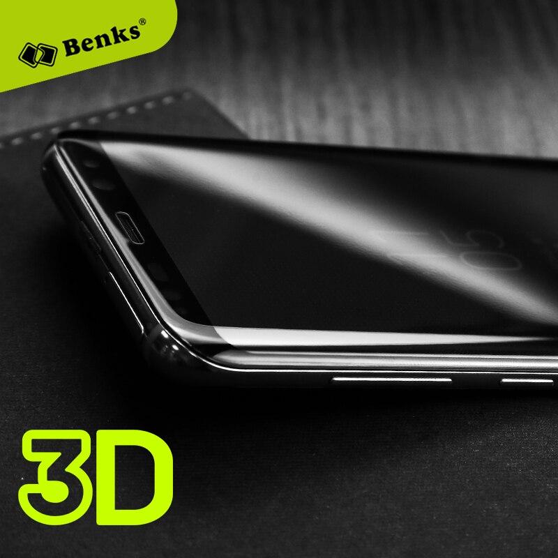 imágenes para La sfor Samsung Galaxy S8 Vidrio Templado Benks Cubierta de Pantalla 3D vidrio de la sfor Samsung Galaxy S8/Galaxy Plus Protector de Pantalla S8