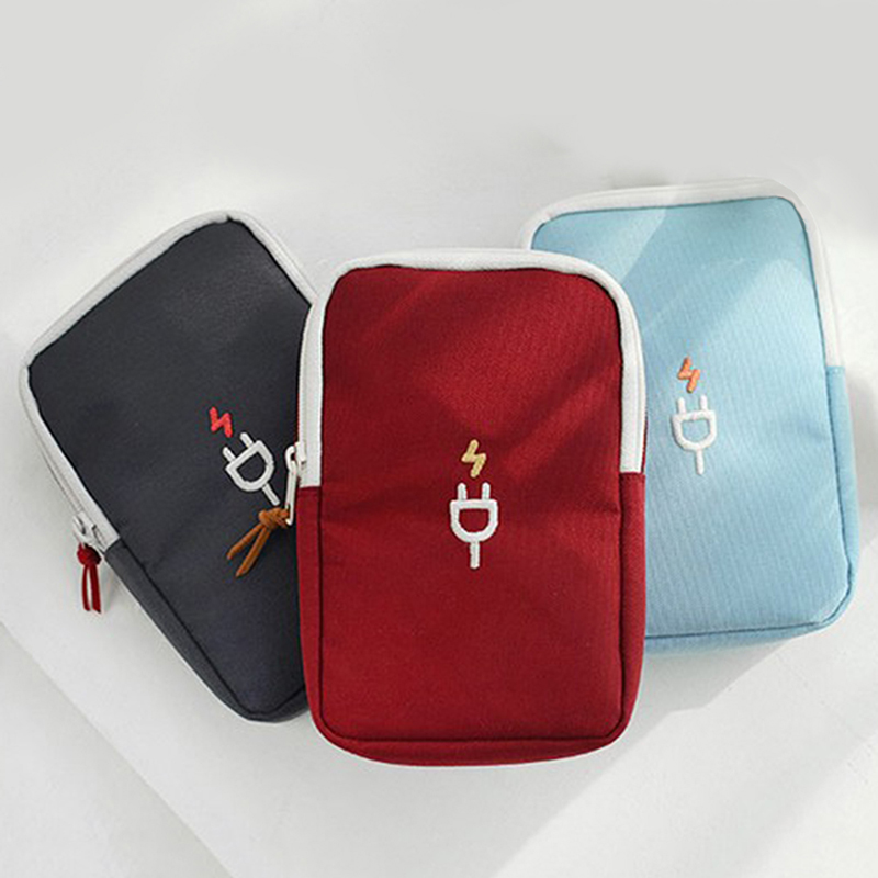 Digital Bag Data Lines Power Bank Package Portable Multi-function Travel Pouch Case Accessories Supplies Packing Organizers