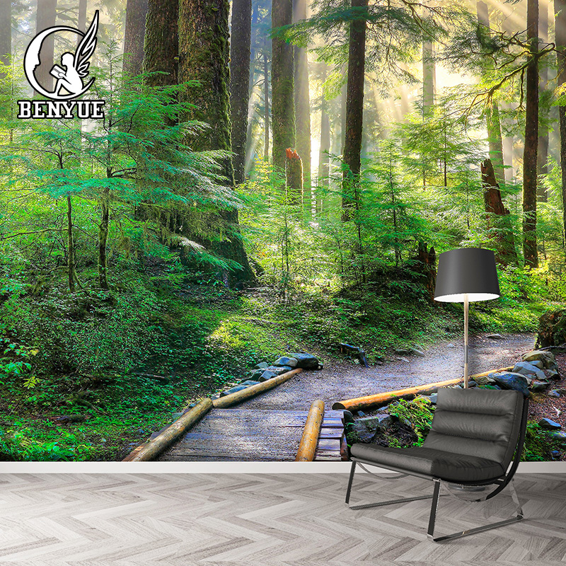 Modern Photo Wallpaper Wallpaper For Walls 3 d Custom Size Forest Wall Mural Living Room Decoration Wallpper 3d Wall Murals custom photo 3d ceiling murals wall paper classic oil paintings the sky people room decor 3d wall murals wallpaper for walls 3 d
