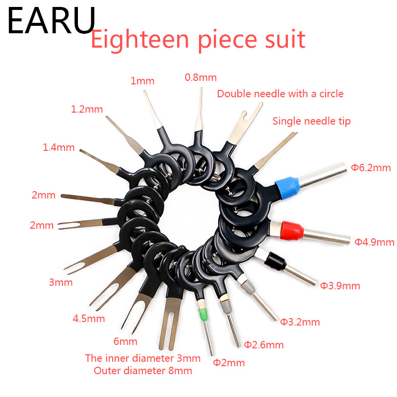 Terminal Removal Tools Car Electrical Wiring Crimp Connector Pin Extractor Kit Car Repair Hand Tool Set Plug Key Kit Release