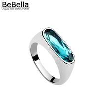 BeBella роскошное Кристальное кольцо для пальца с кристаллами от Swarovski, модное ювелирное изделие для девушек и женщин, Рождественский свадебный подарок