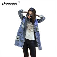 Women Spring Summer Jeans Jacket Casual Woman Clothes Full Sleeve Plus Size Long Cardigan Jackets Coat