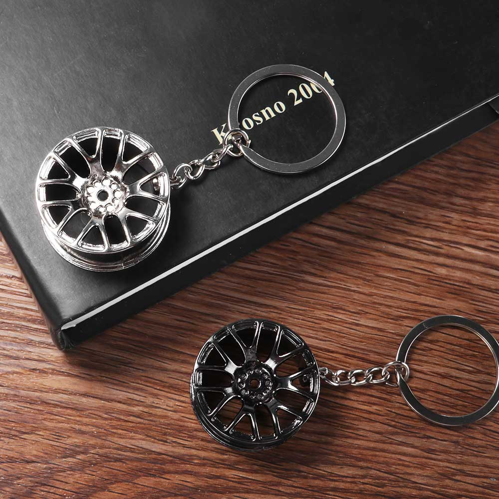 Wheel Rim Key Chain Luxury Aluminum Car Key Ring Keychain For Man Women