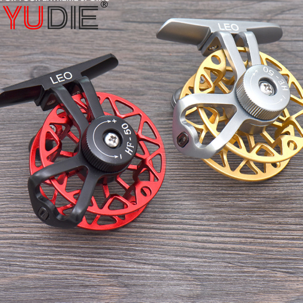 1pcs Red Or Gold Professional Ice Wheel Raft Wheel All Metal Fishing Line Cup Pre-Loading Spinning Wheel Fishing Reel Gear Tool