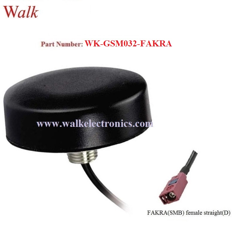 FAKRA female small size waterproof screw mount 3G gsm car Antenna outdoor use roof mount quad band gprs antenna