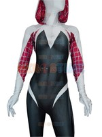3D Print Spider Gwen Stacy Spandex Lycra Zentai Spiderman Costume for Halloween Cosplay Female Spider Suit Free Shipping