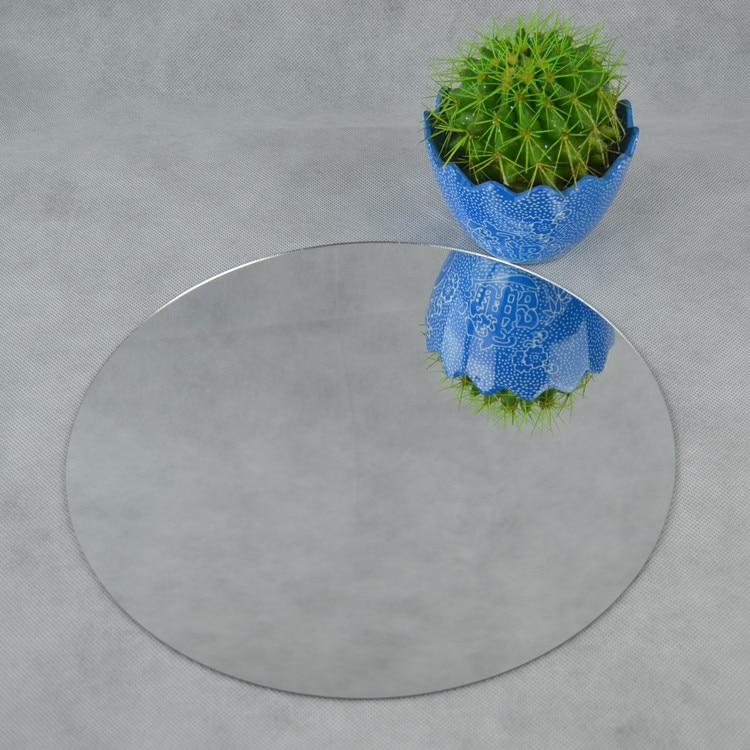 (48 шт./лот) пользовательские произвольной Форма Акриловые круглое зеркало Простыни d300x2mm PMMA Pier Стекло Пластик декоративные линзы мы можем пр...