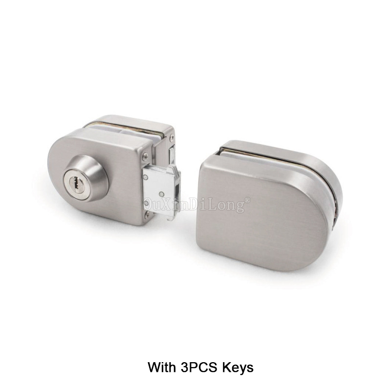 1PCS Stainless Steel Frameless Glass Door Locks For 10-12mm Thickness Glass Door With 3PCS Keys JF1769 special design frameless paintings hills print 3pcs