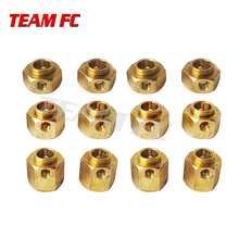 1set 6/8/9/10/11/12MM Heavier Brass Wheel Hex Extended Adapter for RC Crawler TRX4 TRX-4 Accessories S71